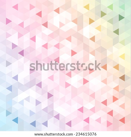Colorful geometric background - stock vector