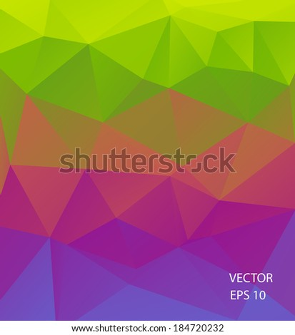 Colorful geometric background of triangular polygons. Eps 10. Vector illustration. - stock vector