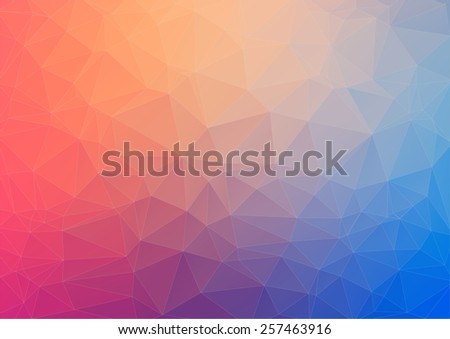 Colorful geometric background with triangles for web design - stock vector