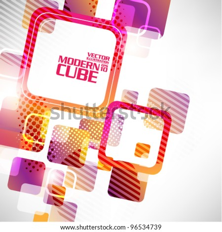 colorful geometric cube vector background design