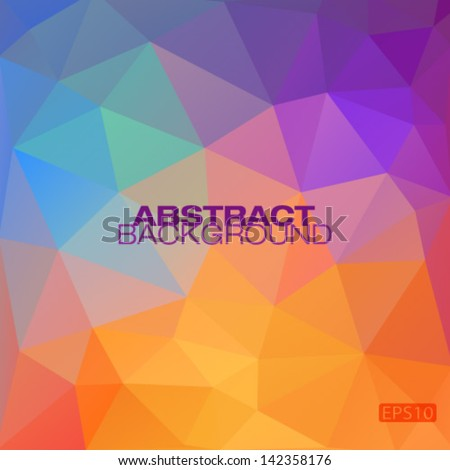 Colorful geometric modern pattern, vector illustration - stock vector