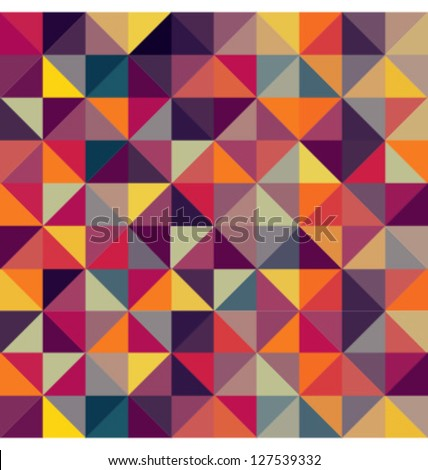 COLORFUL GEOMETRIC PATTERN. Triangle print design. For textile fabrics, wallpapers, background, warping paper, backdrop etc. - stock vector