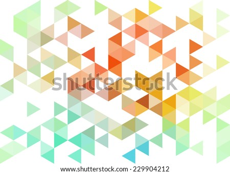 Colorful geometric pattern, triangles background, polygonal design - stock vector