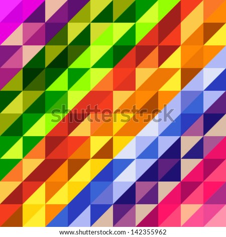 Colorful geometric pattern, vector illustration - stock vector