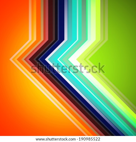 Colorful geometric retro background - stock vector