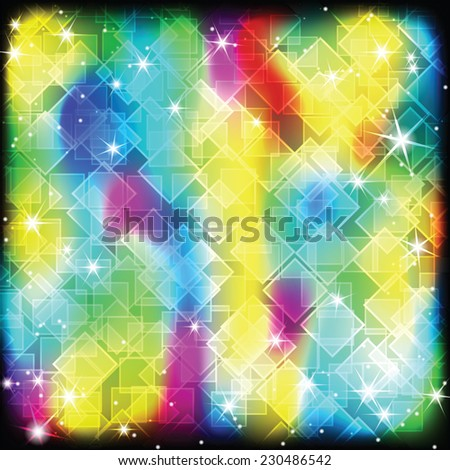 Colorful geometric shimmering stars background