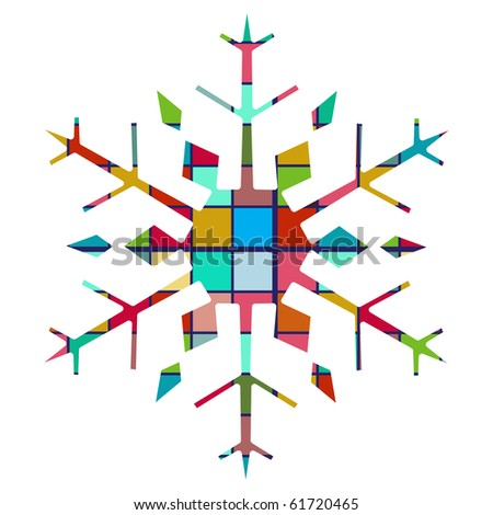 colorful geometric snowflake 2