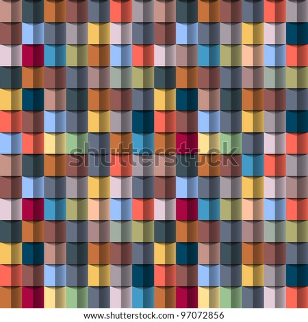 Colorful geometric structure.Vector seamless - stock vector