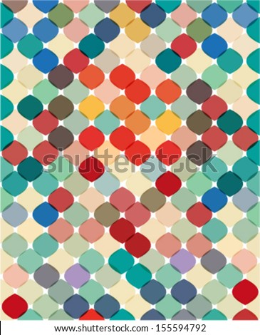 colorful geometric texture & background - stock vector