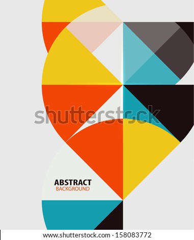 Colorful geometrical modern art minimal template - stock vector
