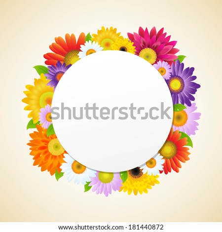 Colorful Gerbers Flower, With Gradient Mesh, Vector Illustration - stock vector