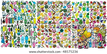 Colorful Giant Party Collection (vector) - stock vector