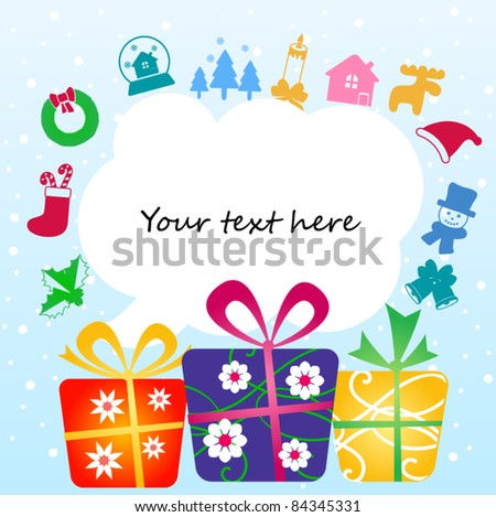 Colorful gift boxes with place for your text - stock vector