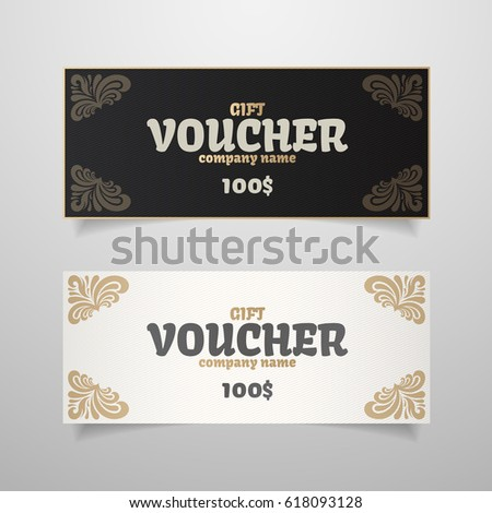 Colorful Gift Voucher Template Modern Gradient Stock Vector ...