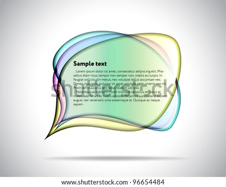 Colorful glass plates - stock vector