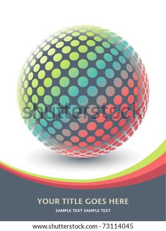 Colorful globe design vector. - stock vector