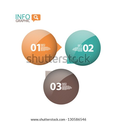 Colorful glossy Circle bubble banner. Can be used for website, info-graphics, number banner - stock vector