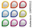 Colorful glossy round buttons - stock vector