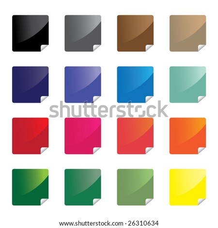 Colorful glossy stickers / vector - stock vector