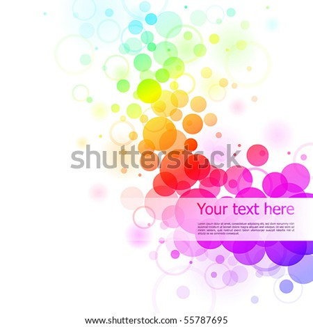 Colorful glowing bubbles background. Vector illustration - stock vector