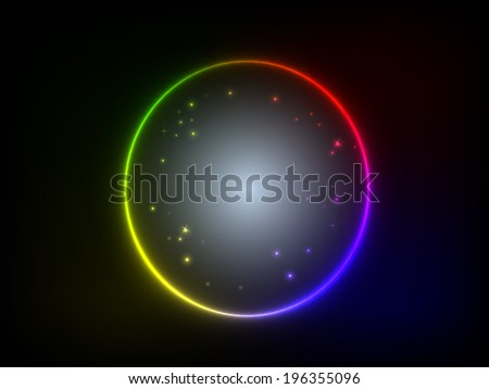 colorful glowing circle background vector illustration