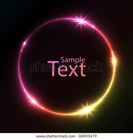Colorful glowing circle vector background.