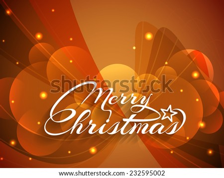 Colorful glowing Merry Christmas background design. vector illustration - stock vector