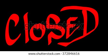 Colorful graffiti tag closed on a black background. Vector art.