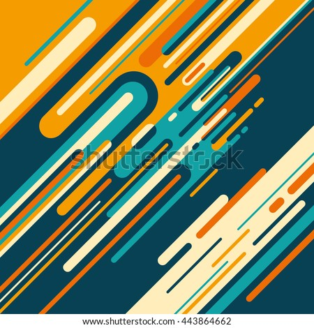 Colorful graphic with abstract elements. Vector illustration.