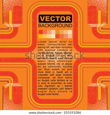 Colorful grunge background - vector - stock vector