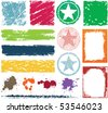 Colorful grunge elements - stock vector