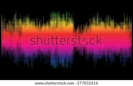 Colorful halftone abstract design background in the form of wave. Vector art.