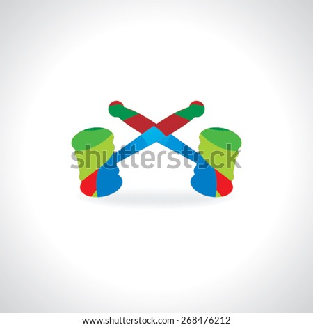 colorful hammer for justice vector illustration  - stock vector
