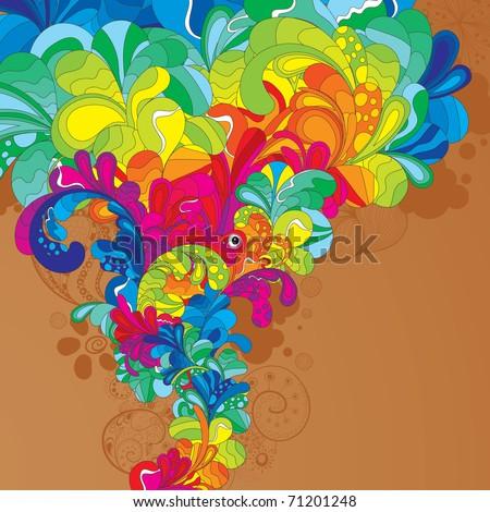 Colorful hand drawn illustration. Enjoy! - stock vector