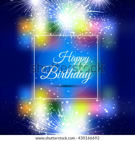 Colorful happy birthday background;  - stock vector