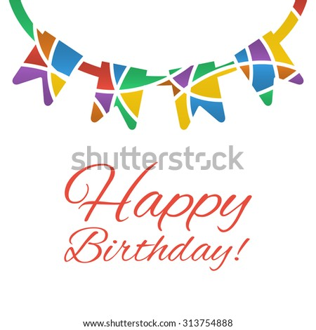 colorful happy birthday congratulation card template stock vector