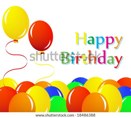 Colorful happy birthday illustration - stock vector