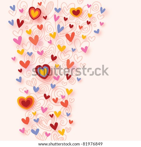 colorful hearts background - stock vector
