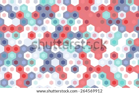 colorful hexagon pattern.vector geometric background design. - stock vector