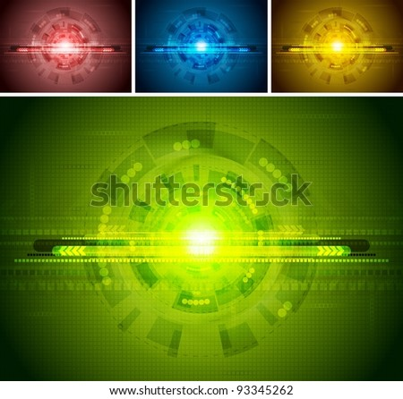 Colorful hi-tech backgrounds. Vector illustration eps 10 - stock vector