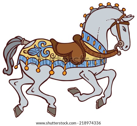 Colorful horse vector - stock vector