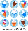 colorful ice-cream set - stock vector