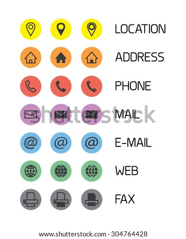 Colorful icons business cardsmobile phone application stock vector colorful icons for business cardsmobile phone application vector illustration colourmoves
