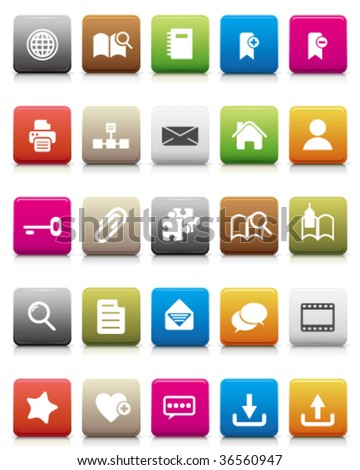 colorful icons -- Internet and Blogs