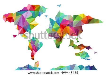 Colorful illustration world map made different stock photo photo colorful illustration of a world map made of different geometric shapes gumiabroncs Gallery