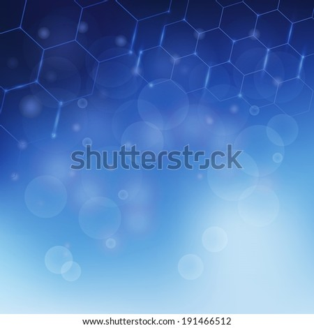 colorful illustration with  abstract  Molecules background  for your design - stock vector