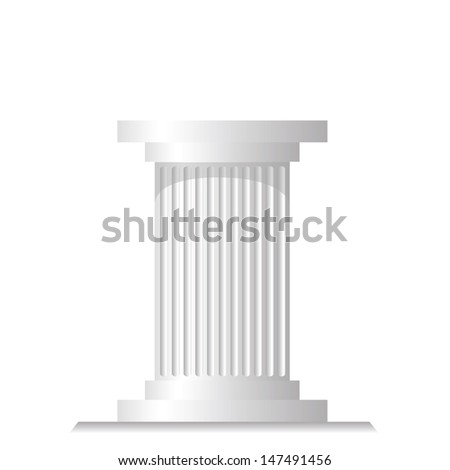 colorful illustration with ancient column for your design - stock vector