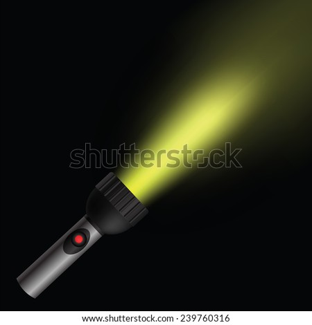 colorful illustration  with light flash on black background