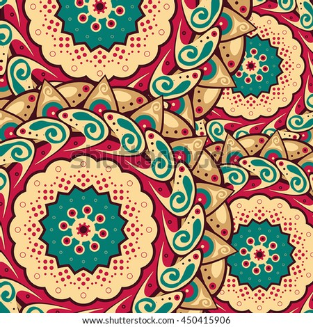 Colorful Indian traditional pattern, mandala flower