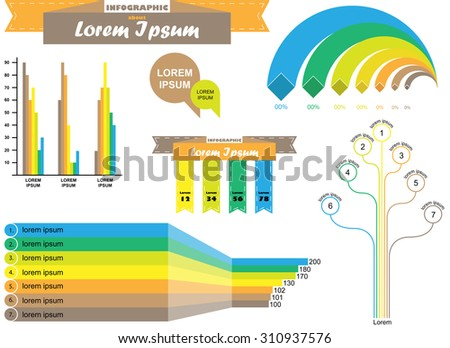 Colorful info graphic